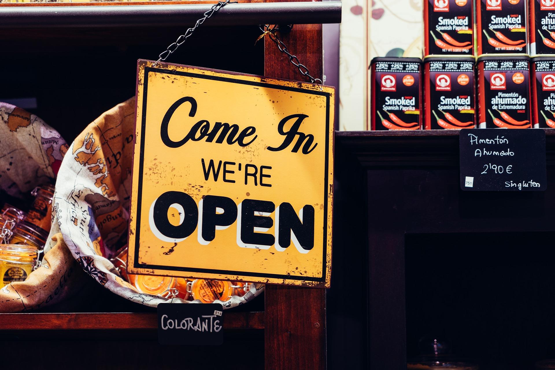 enseigne commerce open