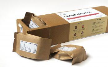 étiquettes adhésives sur un emballage