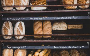 pains dans un présentoir
